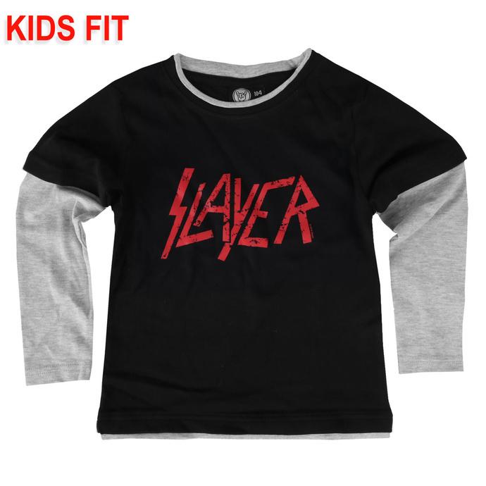 Otroška majica z dolgimi rokavi Slayer - Logo - Metal-Kids