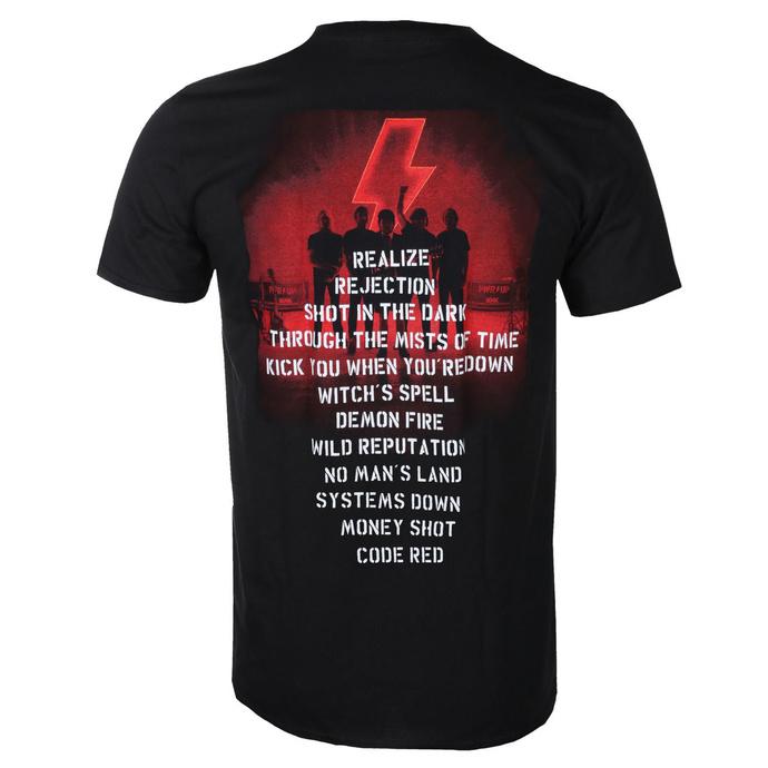 Moška majica AC / DC - Power Up - Track Leaf- Črna