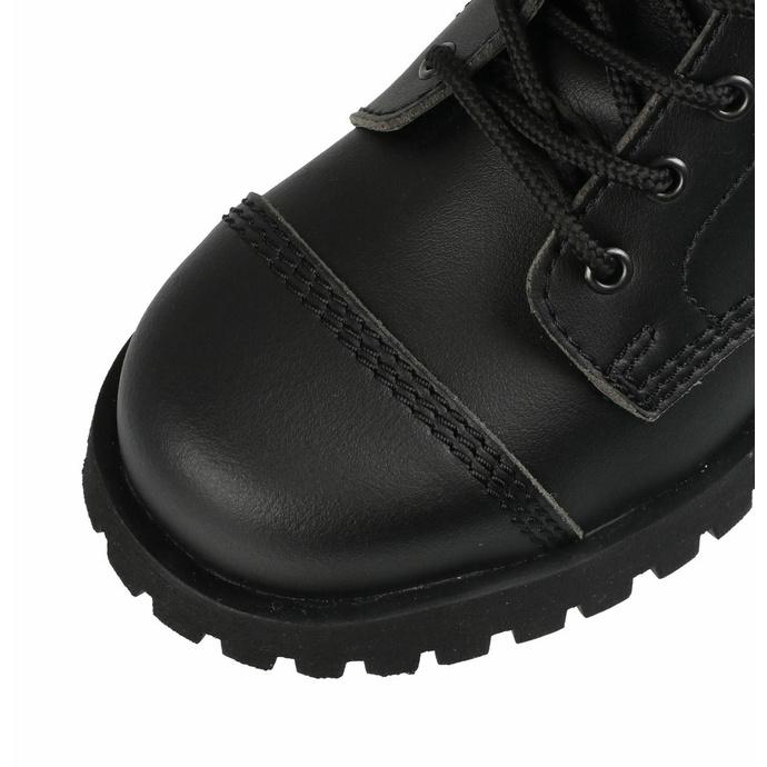 škornji NEVERMIND - 10 očesc - Vegansko - Black Synthetic - 10110S - DAMAGED