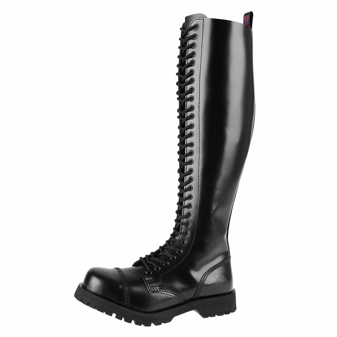 Škornji NEVERMIND - 30-očesc - BLACK POLIDO