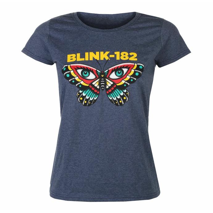 Ženska majica Blink 182 - Metulj - Mornarska Heather