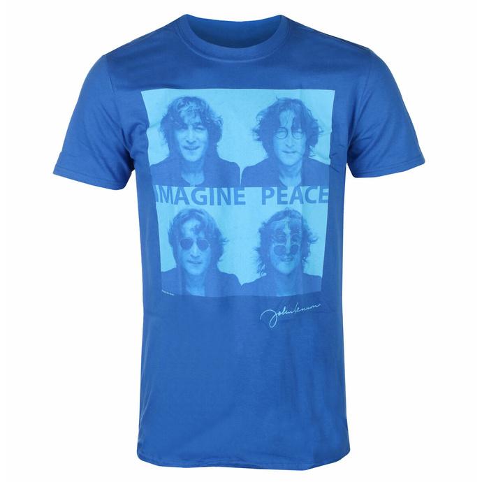 Moška majica John Lennon - Glasses 4 Up BLUE - ROCK OFF