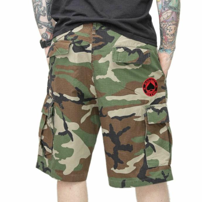 Moške kratke hlače BLACK HEART - ACE OF SPADES - CAMO