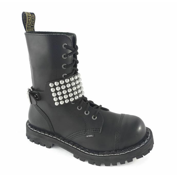Opasnica za škornje Usnjena Leather boot strap with rivets - bubble 5