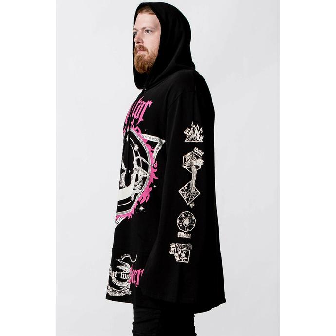 Unisex hoodie KILLSTAR - Meditation Longline - Črna