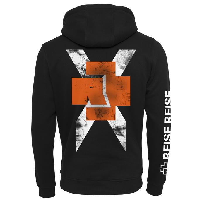 Moški hoodie Rammstein - Weißes Kreuz - črna