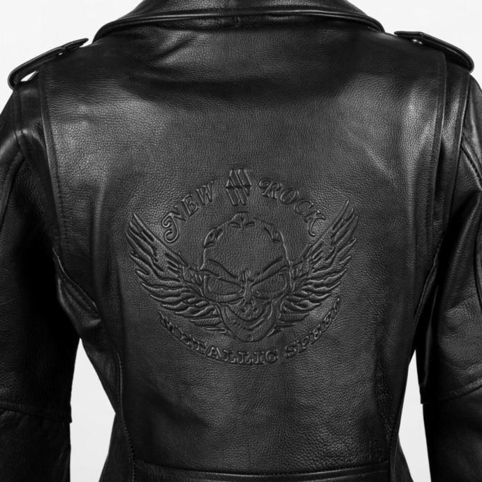 Ženska jakna NEW ROCK - LDS MBF Črna COW ANILINE BLACK