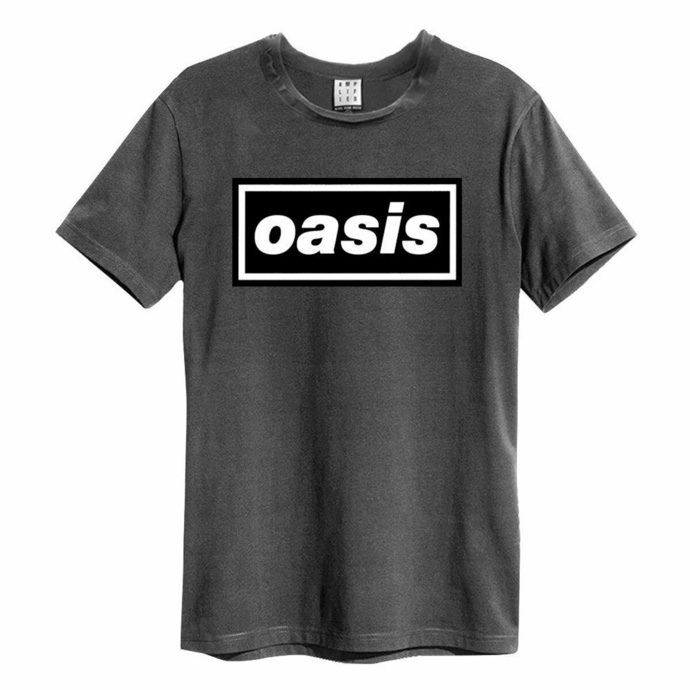 Moška majica OASIS - LOGO - CHARCOAL - AMPLIFIED