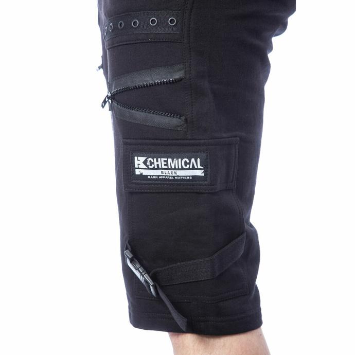 Moške kratke hlače CHEMICAL BLACK - ASCELIN - ČRNA