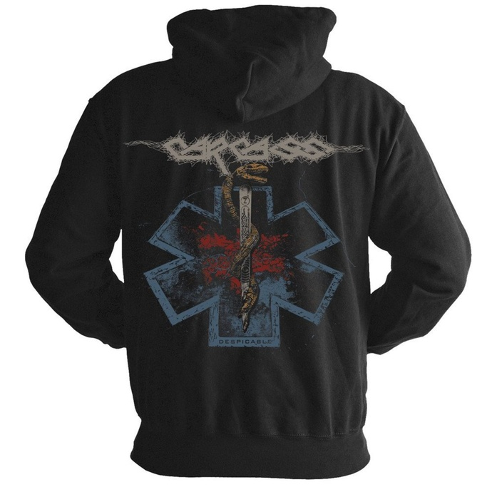 Moški hoodie CARCASS - Rod of asclepius - NUCLEAR BLAST