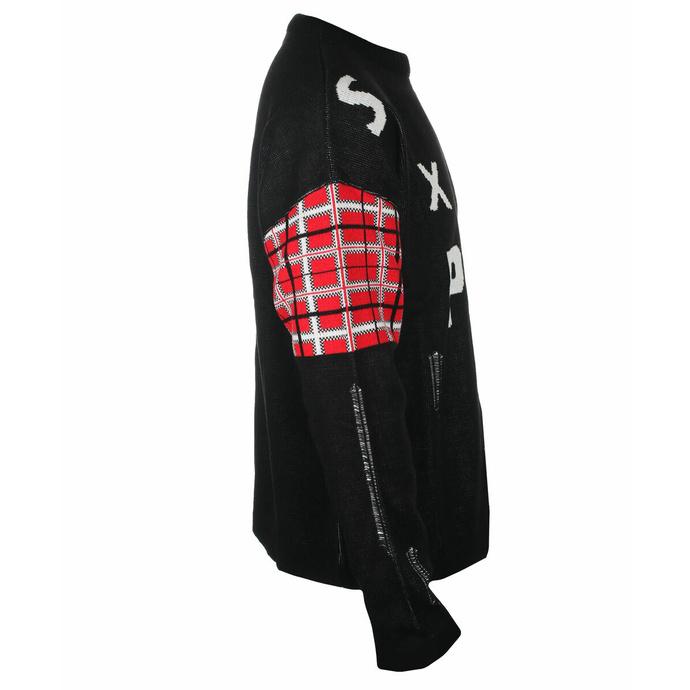 Moški pulover Sex Pistols - Distressed Tartan Logo- ROCK OFF