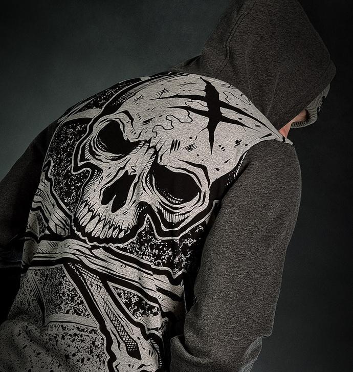 Moški hoodie HYRAW - ASHES TO