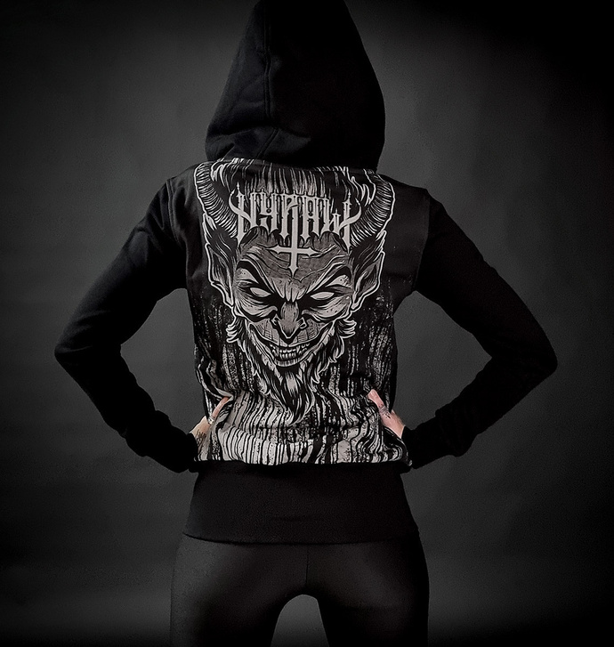 Ženski hoodie HYRAW - LUCIFER - SIVA