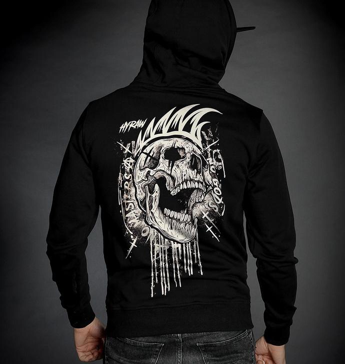 Moški hoodie HYRAW - NO-GODS