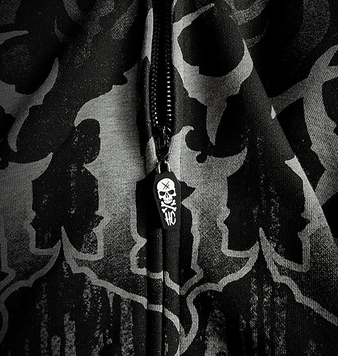 Moški hoodie HYRAW - LUCIFER - SIVA
