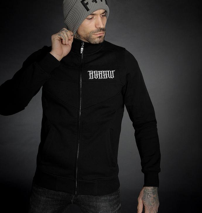 Moški hoodie HYRAW - ADDICT - SIVA