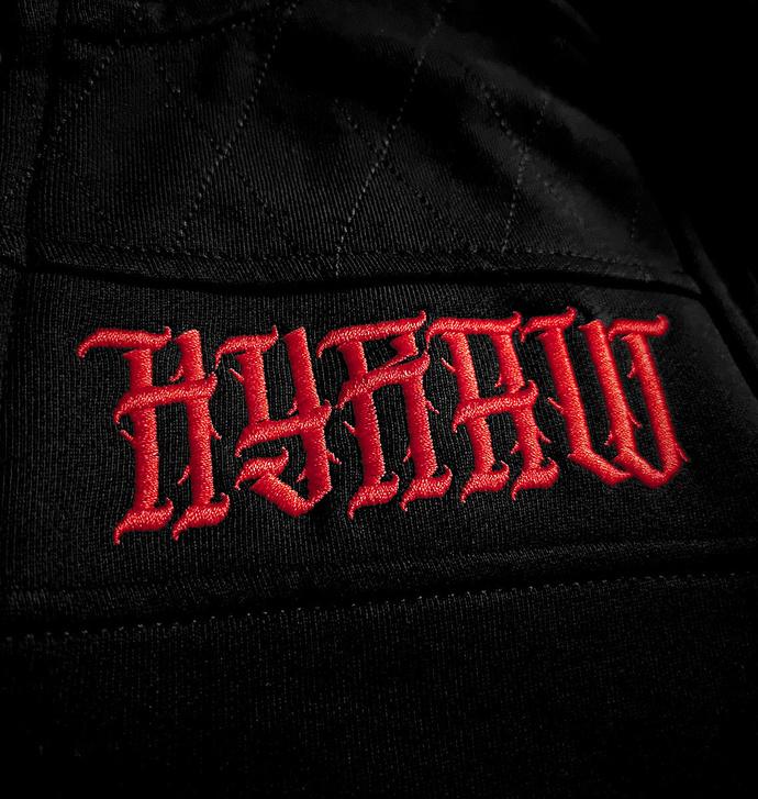 Moški hoodie HYRAW - ADDICT RDEČA