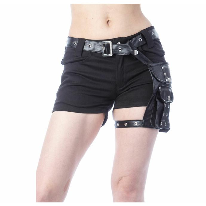 Ženske kratke hlače POIZEN INDUSTRIES - MUSETTE - ČRNA