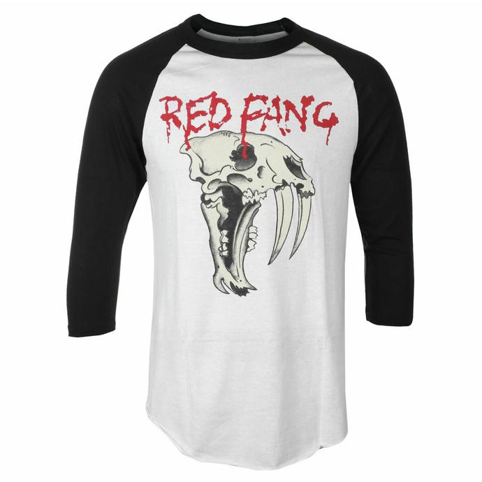 Moška majica s 3/4 rokavi Red Fang - Fang - Bela - INDIEMERCH