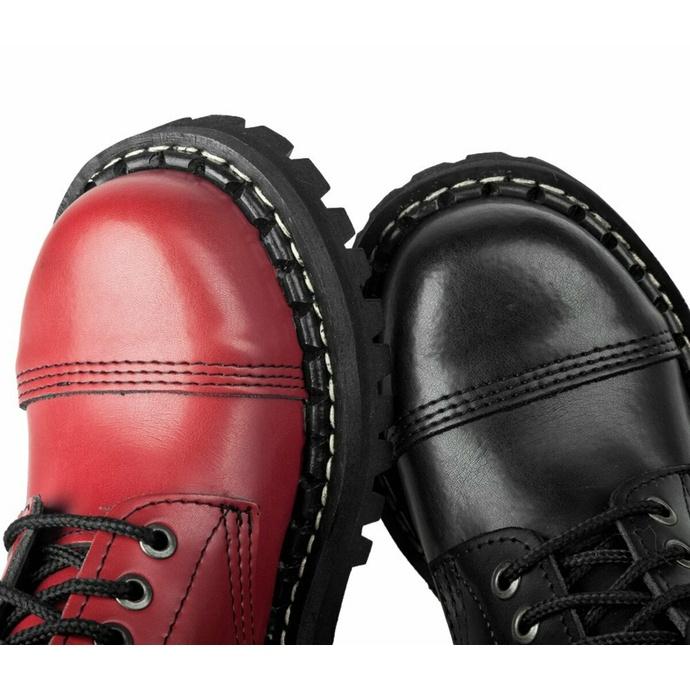 škornji STEADY´S - 10 očesci - Črna rdeča