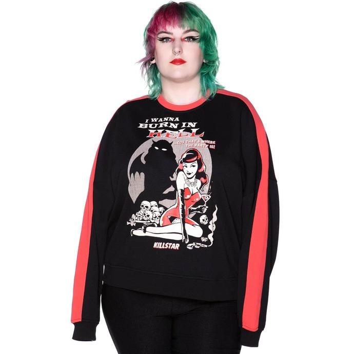 Ženska majica KILLSTAR - She Devil Sweater - Črna