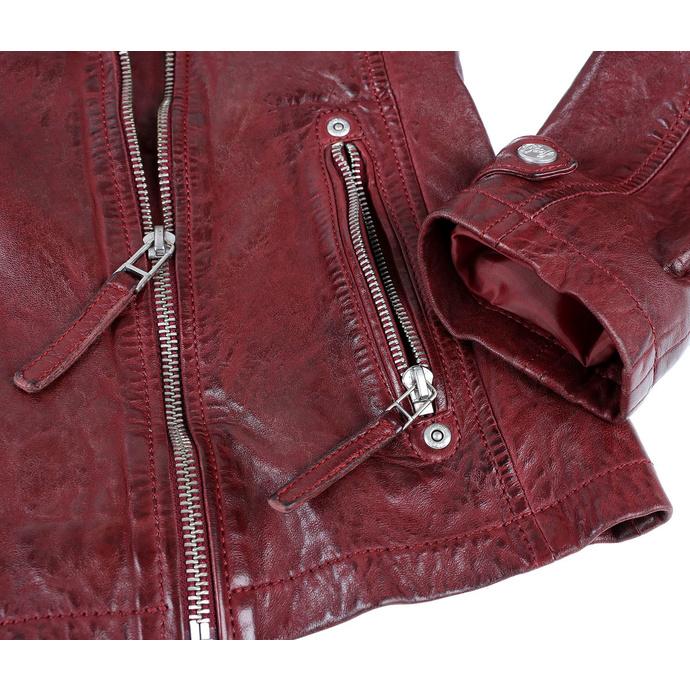 Ženska (bajkerska) jakna GGSami LACAV - OX RED