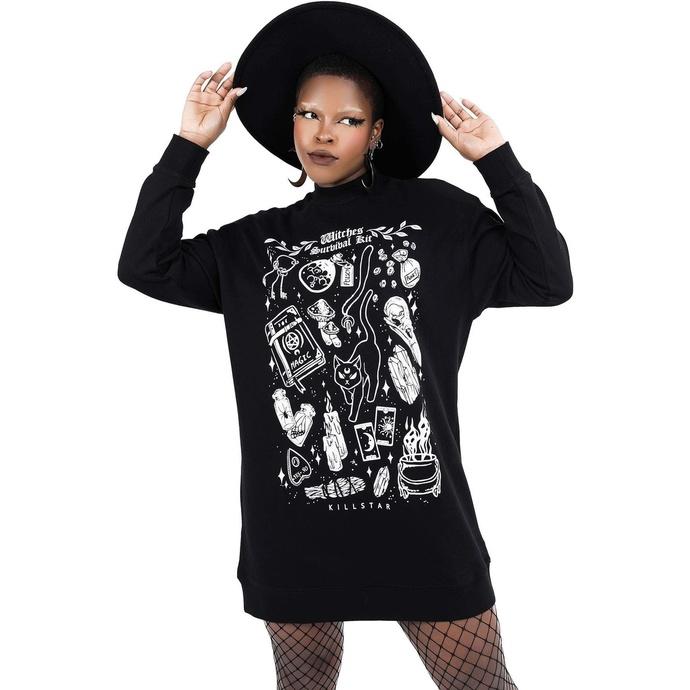 Ženska majica (obleka) KILLSTAR - Survival Kit Sweater - Črna
