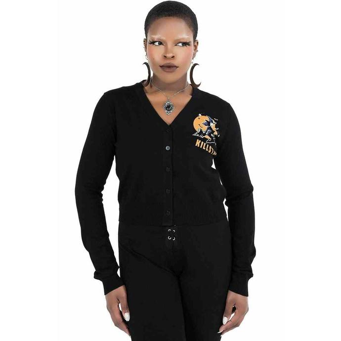 Ženski pulover KILLSTAR - Witch Queen Cardigan - Črna