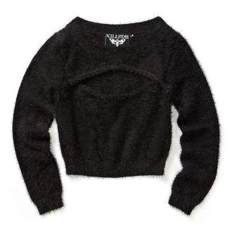 Pulover ženske KILLSTAR - Black Out Fuzzy Crop
