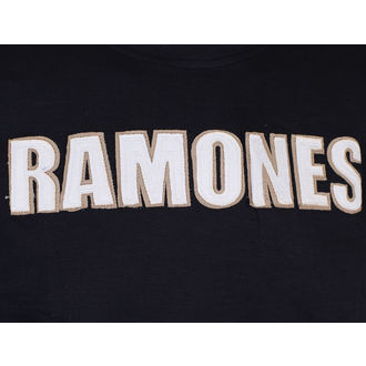 majica kovinski moški Ramones - Logo & Seal Applique Slub - ROCK OFF, ROCK OFF, Ramones