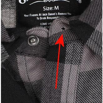 majica moški Jack Daniels - Checks - Črna / siva - ZAŠČITA, JACK DANIELS