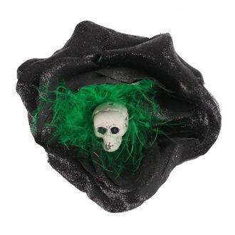 Lasna sponka Skull - Črna / Zeleno Perje, NNM