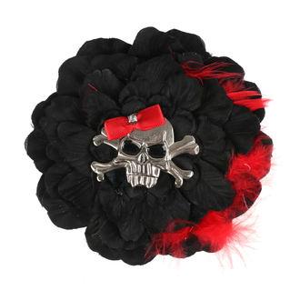 Lasna sponka Skull - Črna / Rdeča Pentlja, NNM