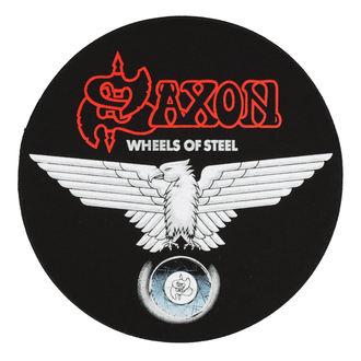 Našitek velik SAXON - WHEELS OF STEEL - RAZAMATAZ, RAZAMATAZ, Saxon