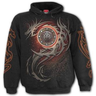 Moški pulover s kapuco - DRAGON EYE - SPIRAL, SPIRAL