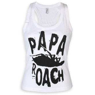 Ženska majica brez rokavov Papa Roach - Classic Logo - Bela - KINGS ROAD, KINGS ROAD, Papa Roach