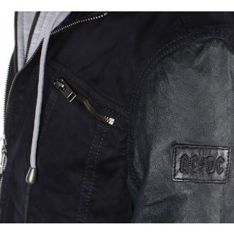 Usnjena jakna AC-DC - Temno modra - NNM
