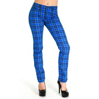 hlače (unisex) 3RDAND56th - Tartan Skinny Jeans - Modra / Tartan, 3RDAND56th