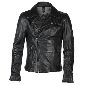 Moška usnjena motoristična jakna Mavric SF NSLV - črna, NNM