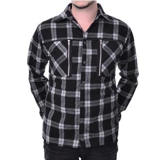 Moška srajca Chemical black - EZRA - BELI KARO, CHEMICAL BLACK