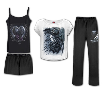 Ženska pižama (set) SPIRAL - RAVEN HEART - Gothic Pajama Set, SPIRAL