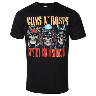 Moška metal majica Guns N' Roses - AFD SKULLS BLK - BRAVADO, BRAVADO, Guns N' Roses