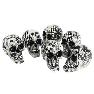Dekoracija (set 6 kosov) Skull - Abstraction, NNM