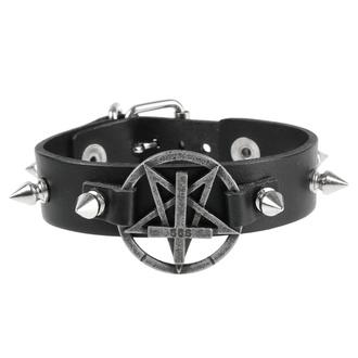 Zapestnica Pentagram, Leather & Steel Fashion
