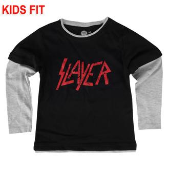 Otroška majica z dolgimi rokavi Slayer - Logo - Metal-Kids - 471-29-84-3