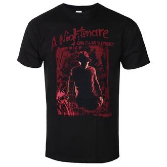 Moška majica Nightmare On Elm Street - Freddy Silhouette - Črna, BIL, Mora v ulici brestov