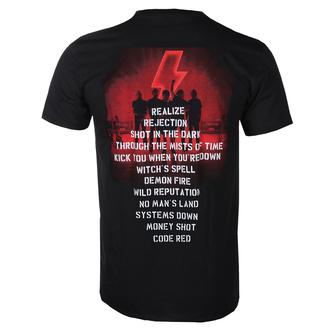 Moška majica AC / DC - Power Up - Track Leaf- Črna, BIL, AC-DC