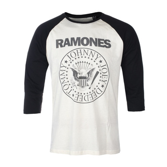 Moška majica s 3/4 rokavi RAMONES - CLASSIC LOGO - ECRU / ČRNA RAGLAN2 - GOT TO HAVE IT, GOT TO HAVE IT, Ramones