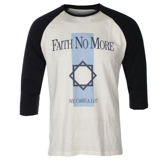 Moška majica s 3/4 rokavi FAITH NO MORE - WE CARE A LOT - ECRU / ČRNA RAGLAN - GOT TO HAVE IT, GOT TO HAVE IT, Faith no More