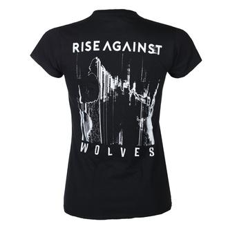 Ženska majica Rise Against - Wolves Pocket Girl Fitted - Črna - KINGS ROAD, KINGS ROAD, Rise Against
